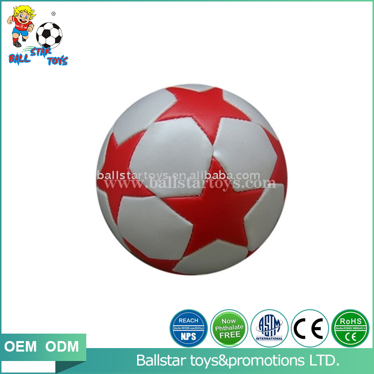 4 inch Phthalate free PVC stuffed star soccer promotion gift toy ball